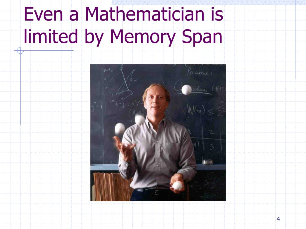 Even a Mathematician is limited by Memory Span