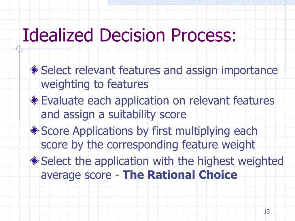 Idealized Decision Process: