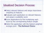 idealized decision process