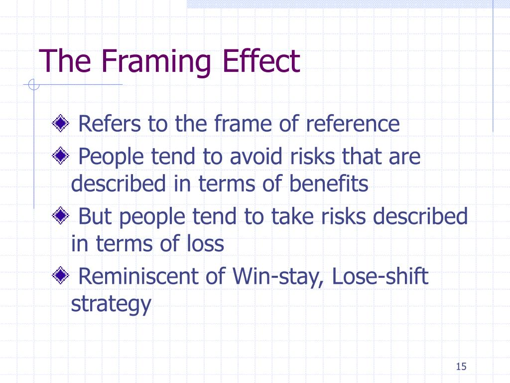 The Framing Effect