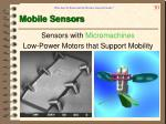 mobile sensors