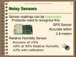 noisy sensors