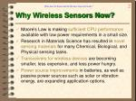 why wireless sensors now