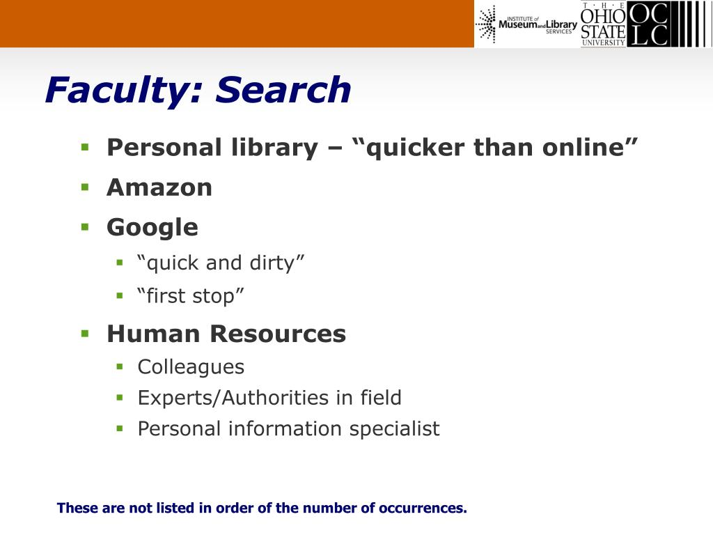 Faculty: Search