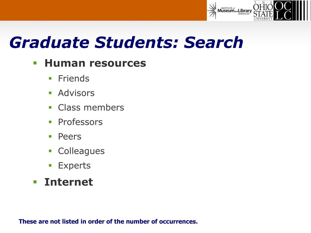 Graduate Students: Search