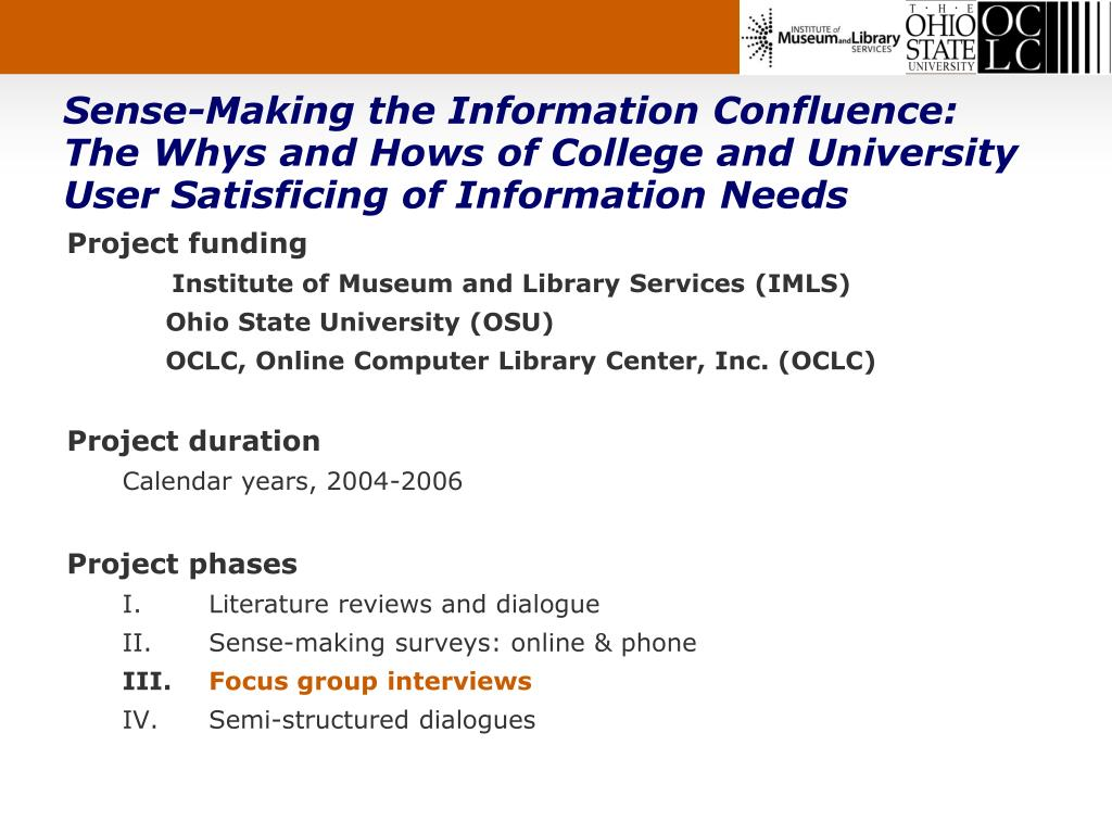 Sense-Making the Information Confluence:
