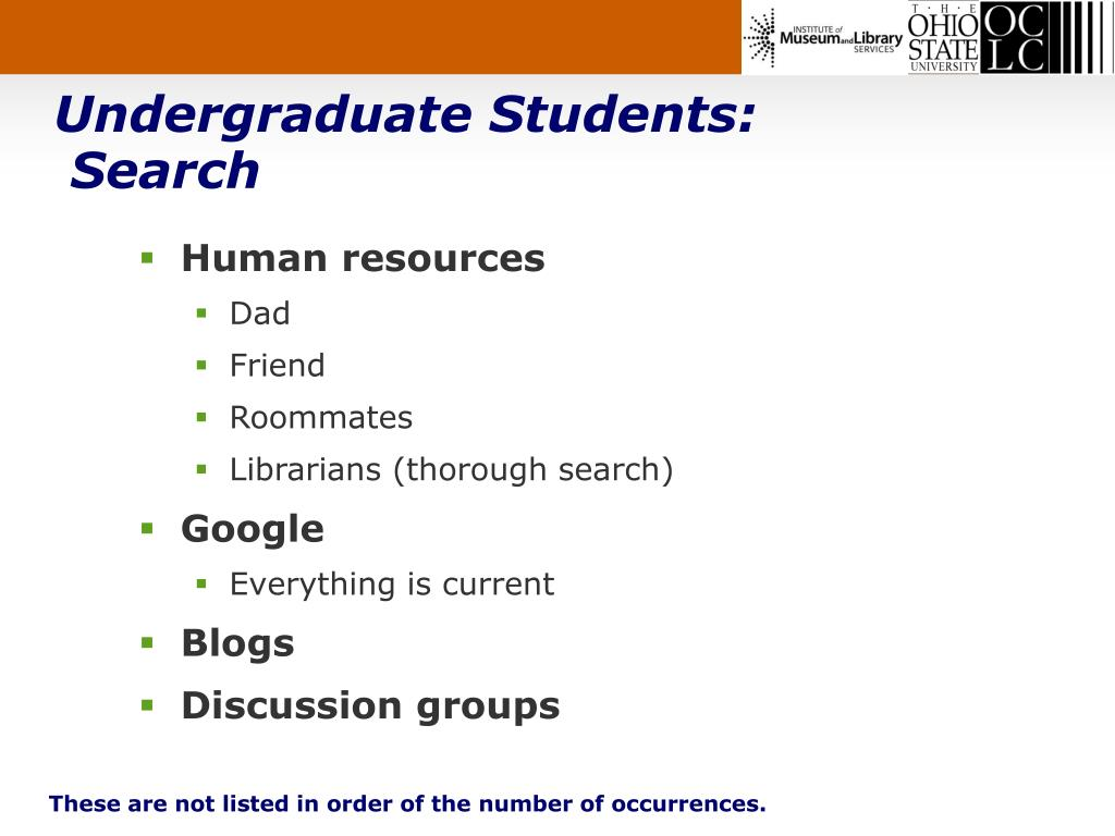 Undergraduate Students: