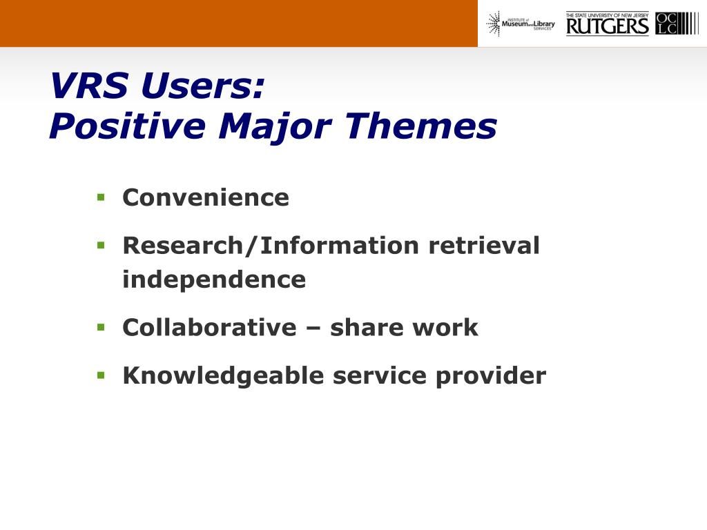 VRS Users: