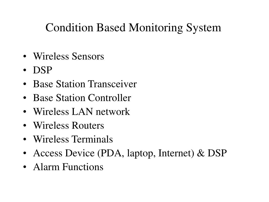 Condition Based Monitoring System