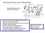 personnel secure area monitoring