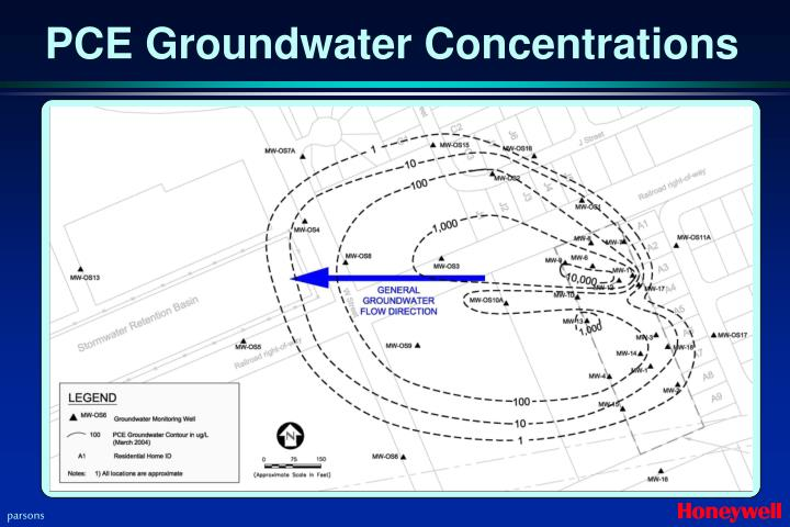 PCE Groundwater Concentrations