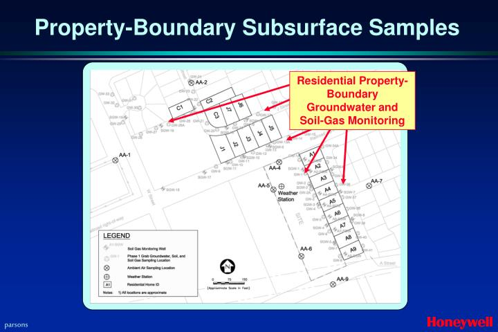 Residential Property-Boundary Groundwater and Soil-Gas Monitoring