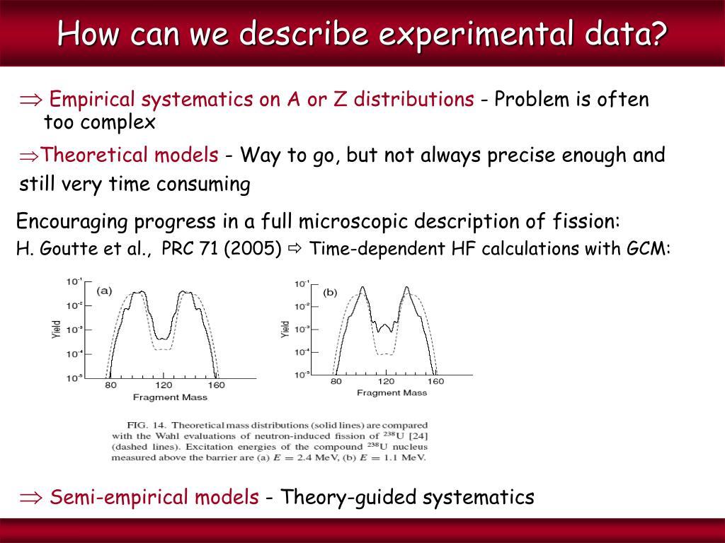 How can we describe experimental data?
