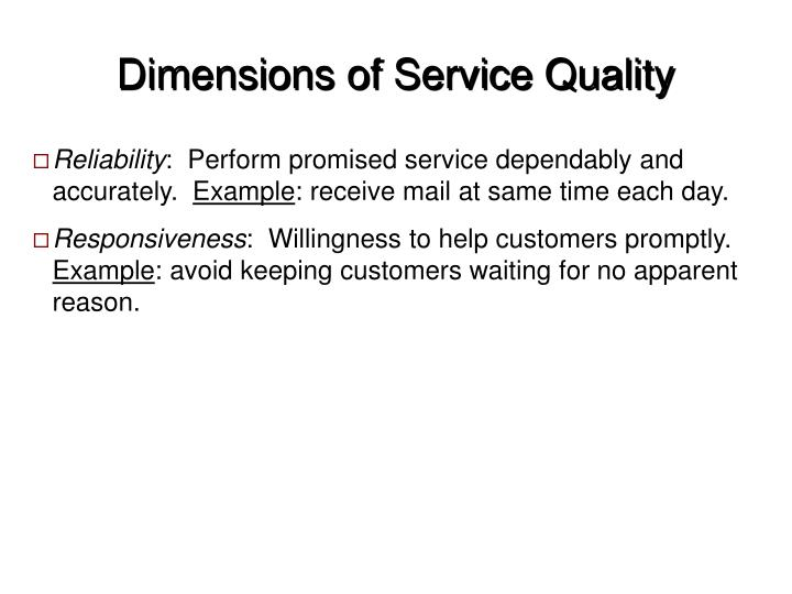 Dimensions of service quality l.jpg