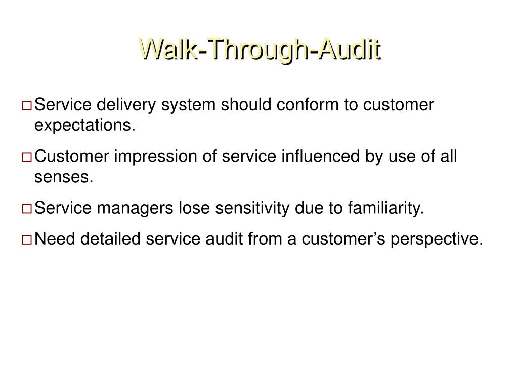 Walk-Through-Audit
