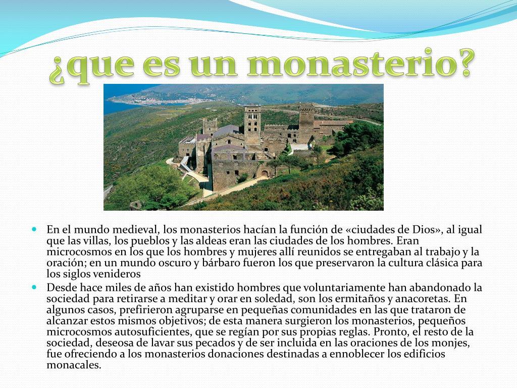 ¿que es un monasterio?