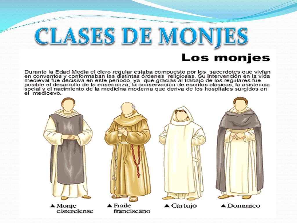 CLASES DE MONJES