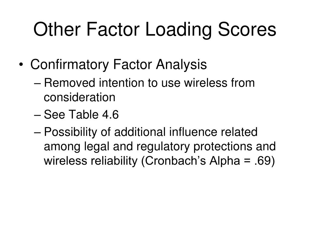 Other Factor Loading Scores