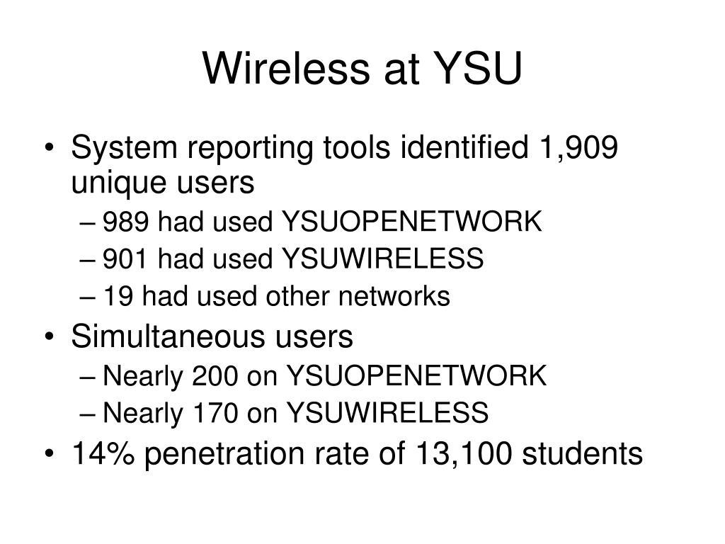Wireless at YSU