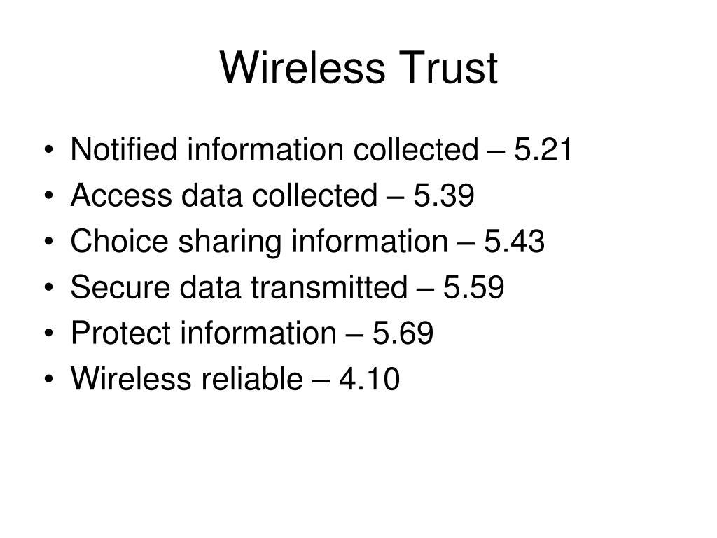 Wireless Trust