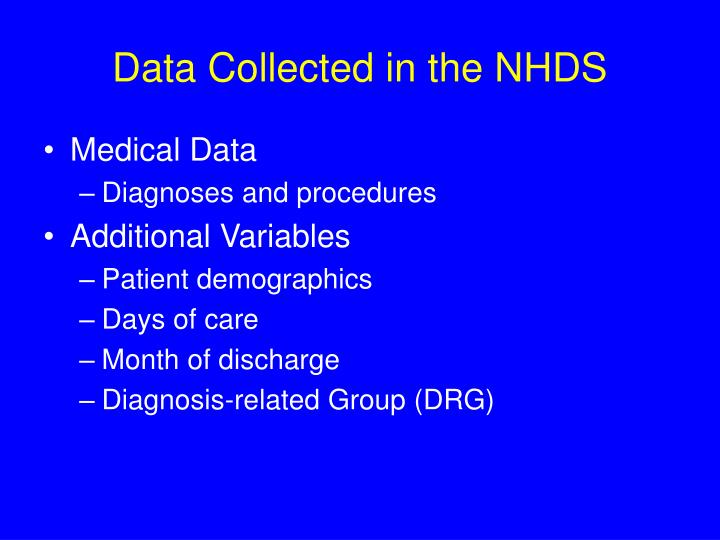 Data Collected in the NHDS