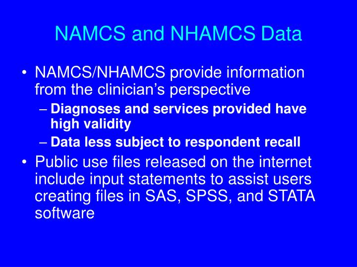 NAMCS and NHAMCS