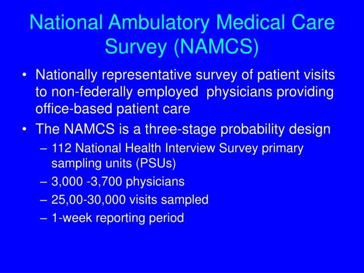 National Ambulatory Medical Care Survey (NAMCS)