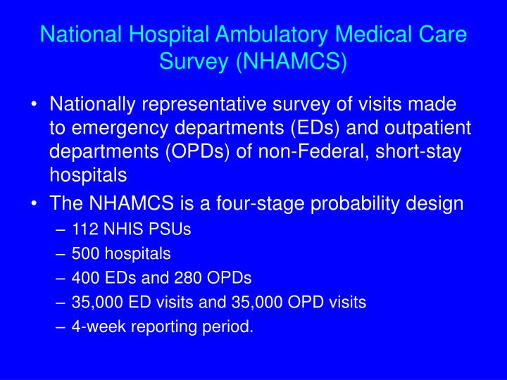 National Hospital Ambulatory Medical Care Survey (NHAMCS)