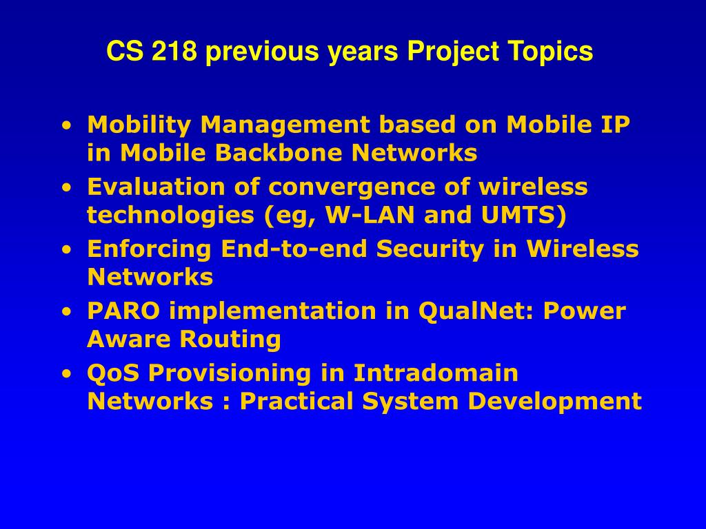 CS 218 previous years Project Topics