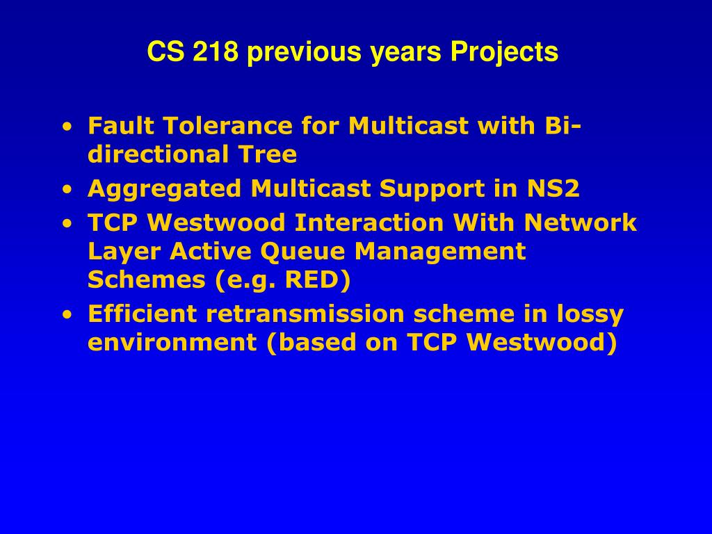 CS 218 previous years Projects