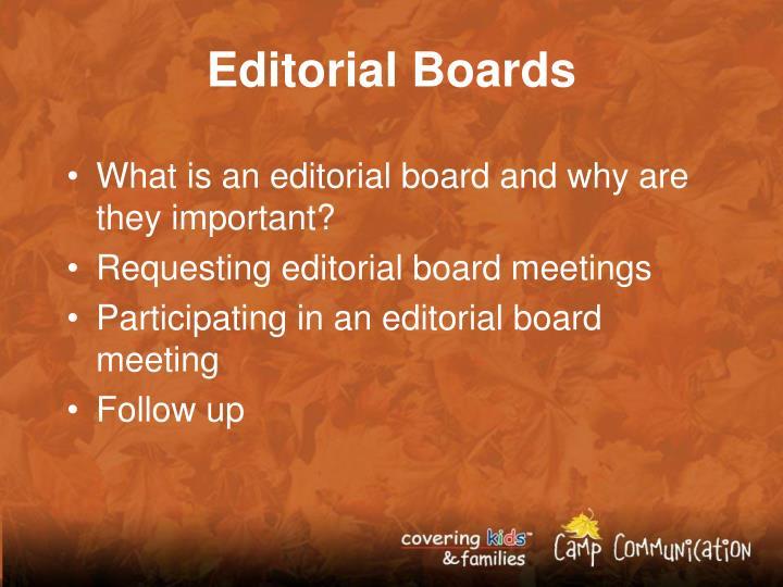 Editorial Boards