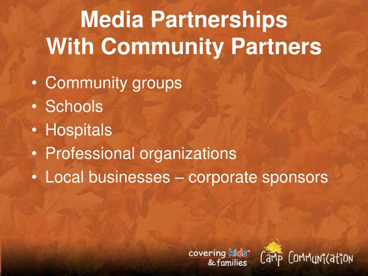 Media Partnerships