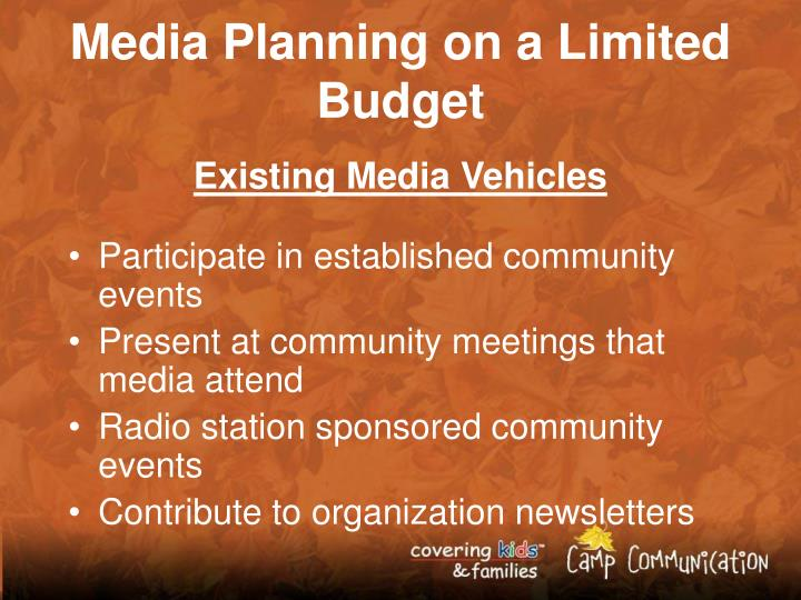 Media Planning on a Limited Budget