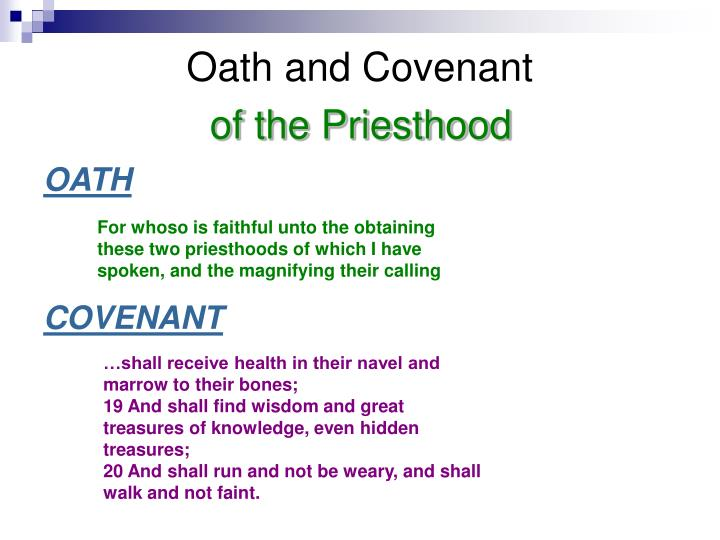 Oath and Covenant