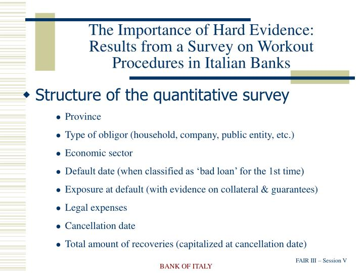 The Importance of Hard Evidence: