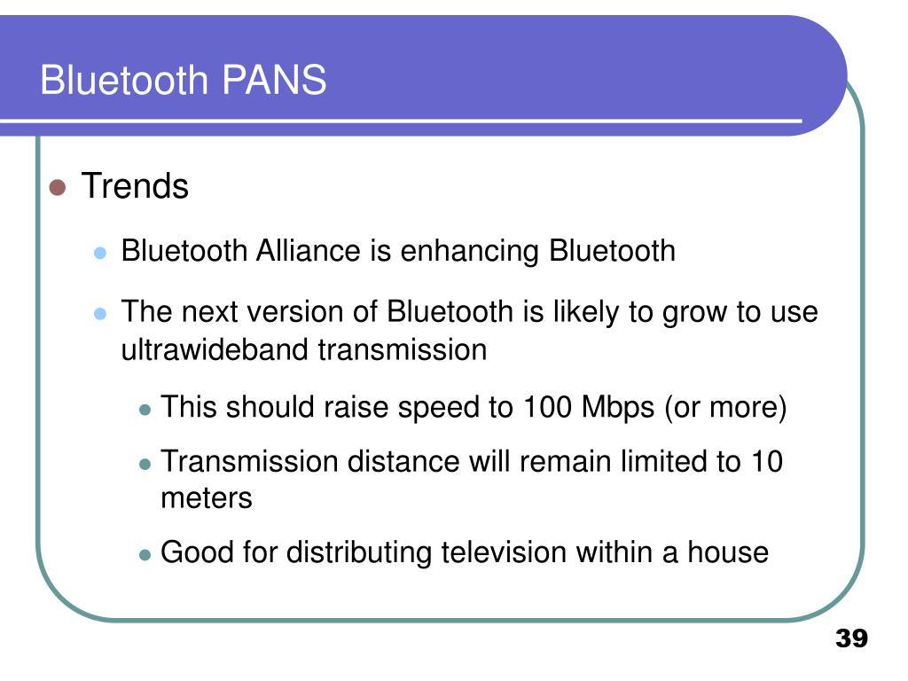 Bluetooth PANS