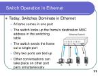 switch operation in ethernet