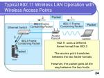 typical 802 11 wireless lan operation with wireless access points