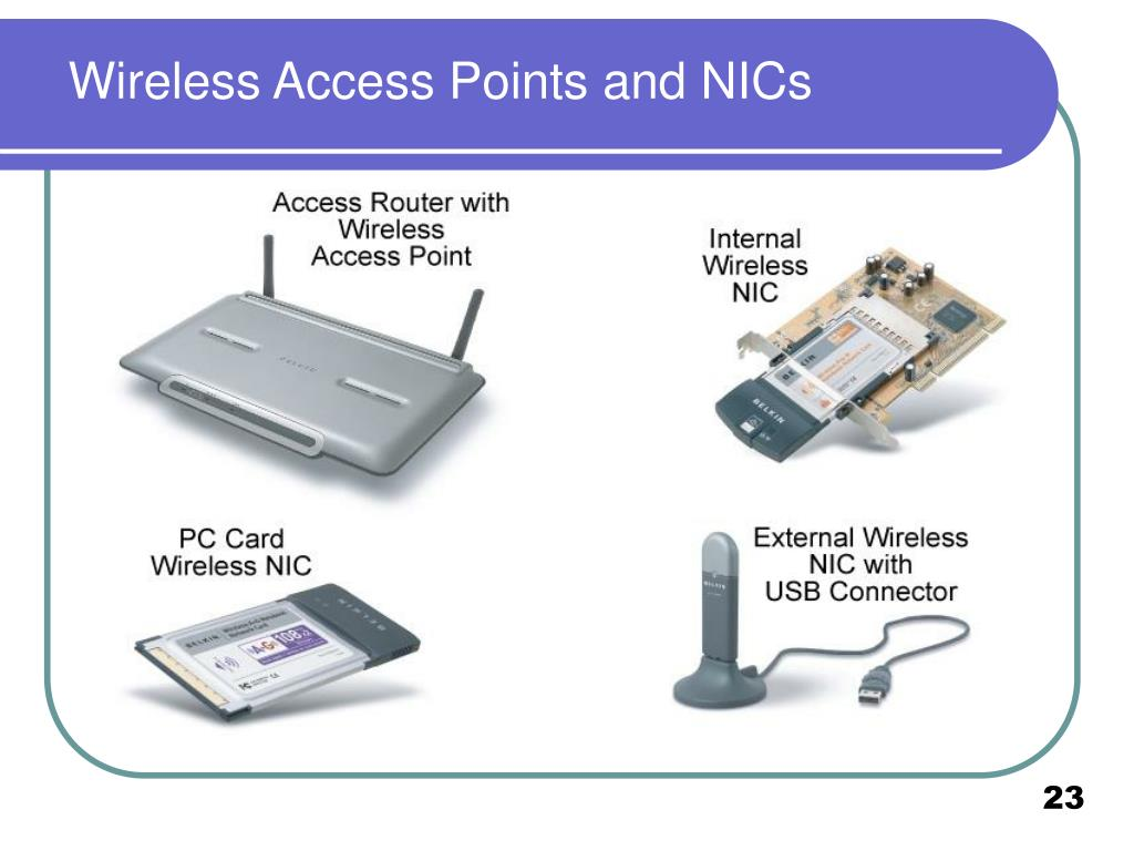 Wireless Access Points and NICs