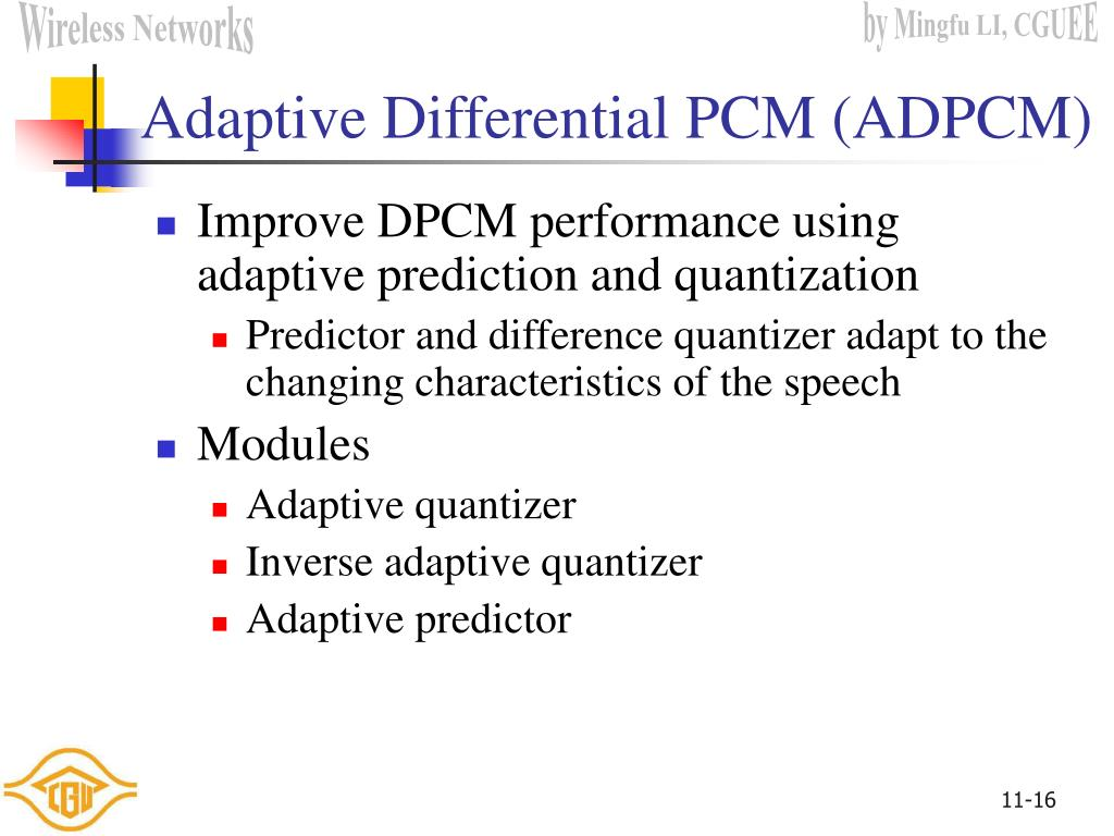 Adaptive Differential PCM (ADPCM)