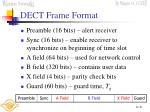 dect frame format