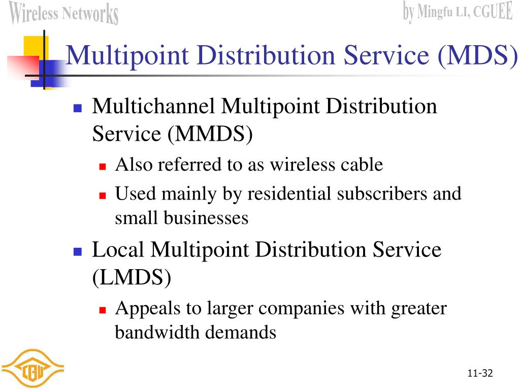 Multipoint Distribution Service (MDS)