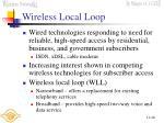 wireless local loop
