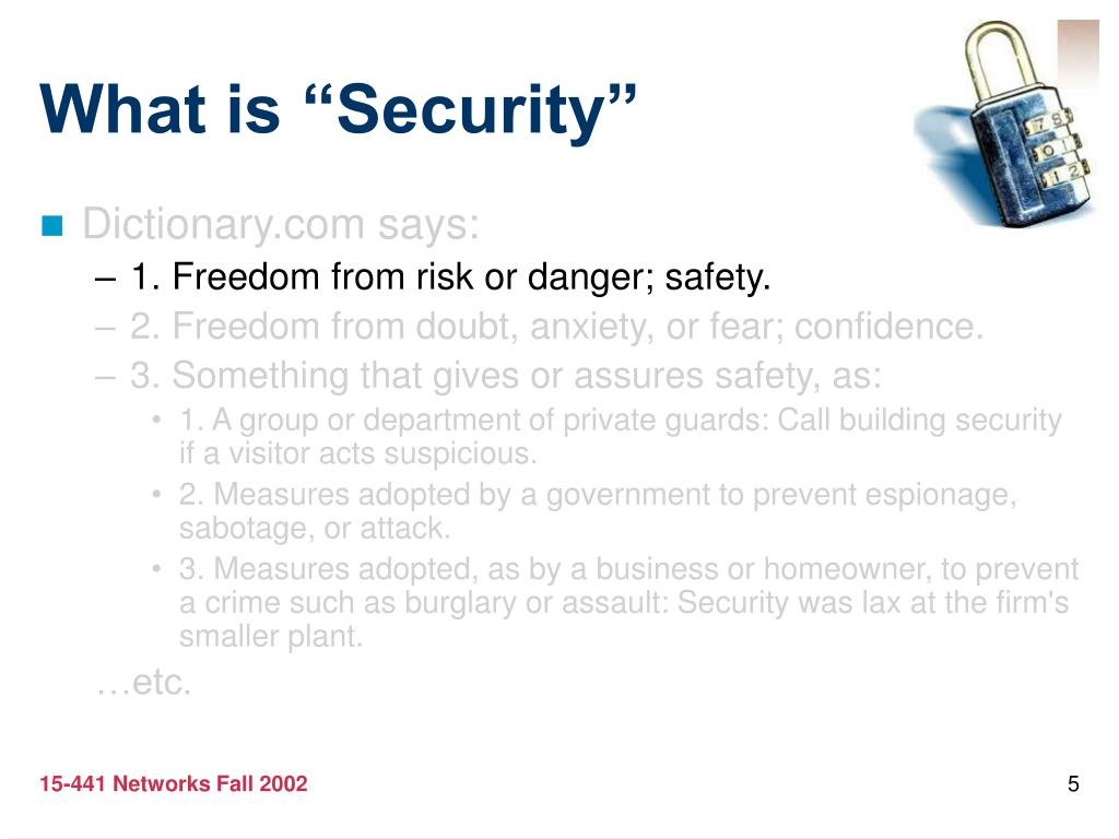 "What is ""Security"""