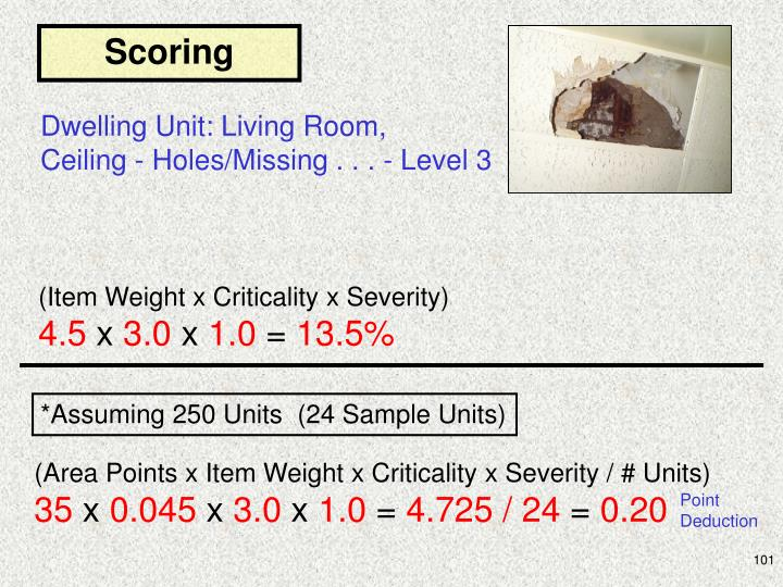 (Area Points x Item Weight x Criticality x Severity / # Units)