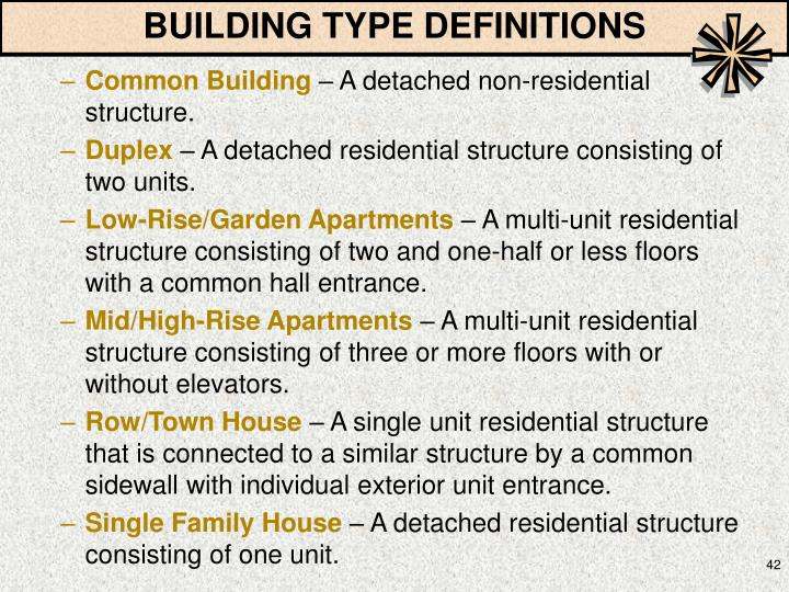 BUILDING TYPE DEFINITIONS