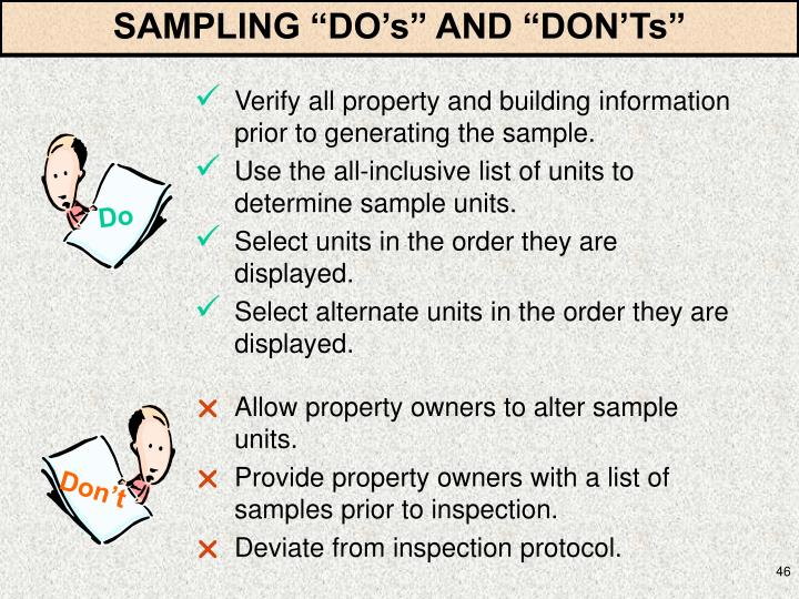 "SAMPLING ""DO's"" AND ""DON'Ts"""