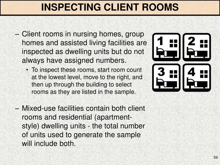 INSPECTING CLIENT ROOMS