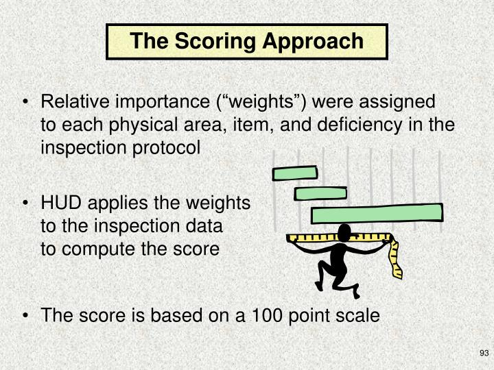The Scoring Approach