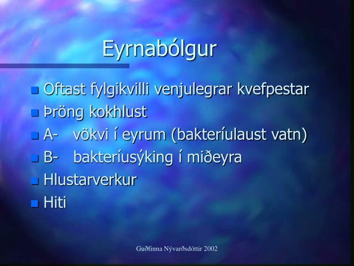 Eyrnabólgur